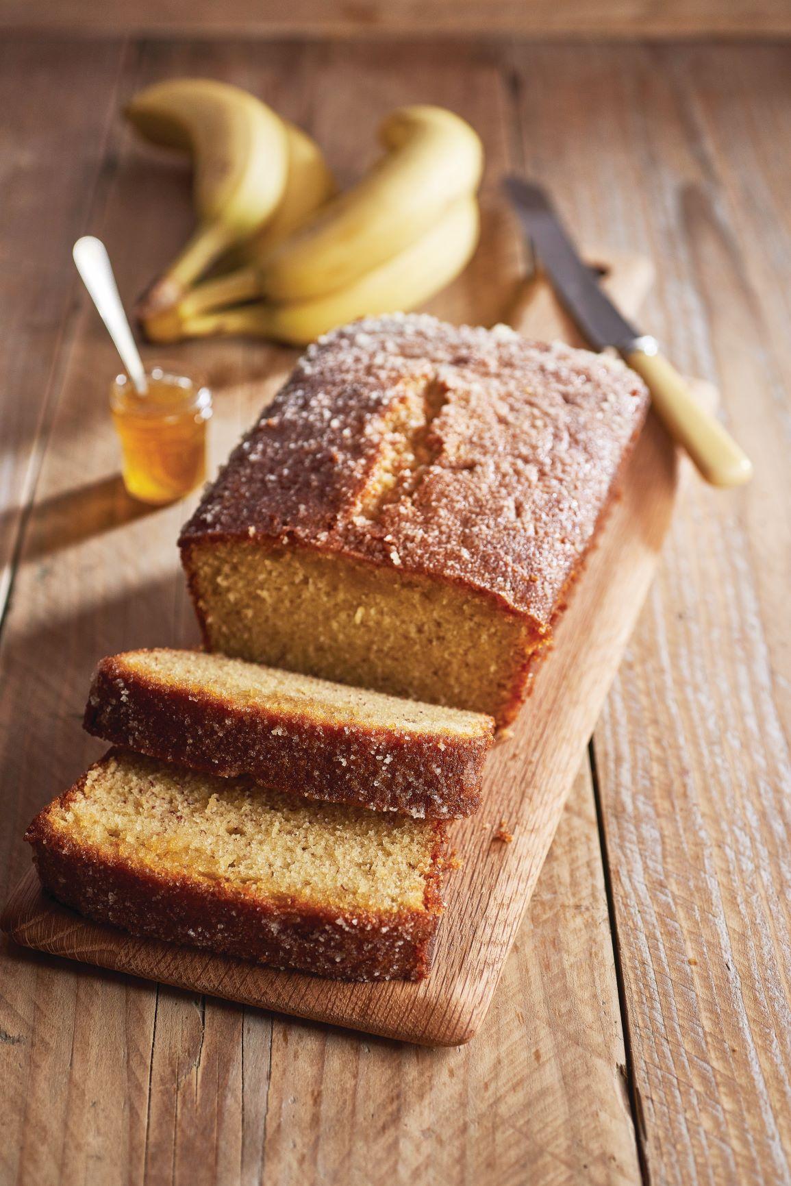 Banana and honey cake